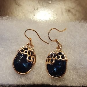 Jewelry - 3/$13 Rose gold royal blue earrings